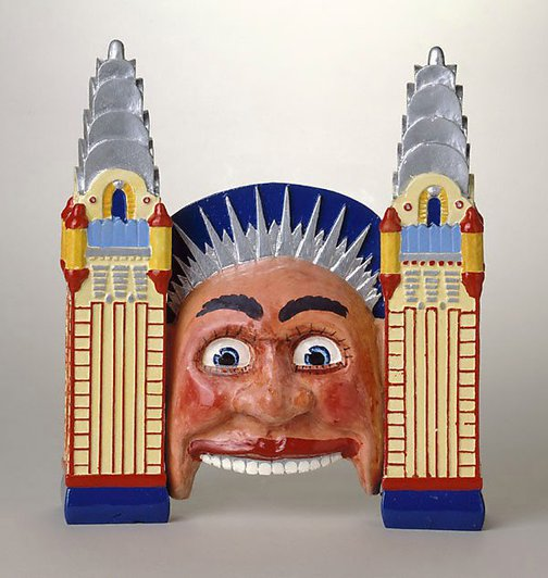 An image of Luna Park façade by Peter Kingston