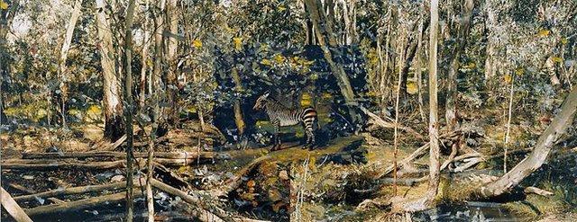 An image of Pseudo Panorama, Australia I. (Zebra)