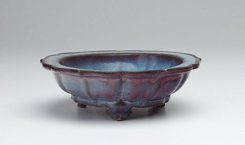 An image of Bowl with floral rim by Jun ware
