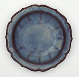 Alternate image of Bowl with floral rim by Jun ware