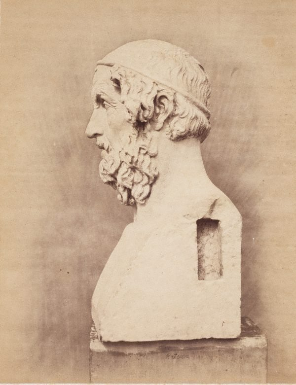 An image of Bust of Homer, side view