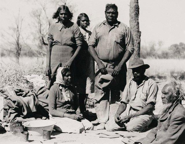 An image of Albert Namatjira and his family