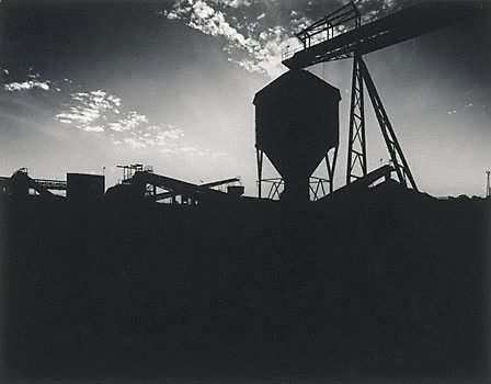 An image of Silhouette of No.2 wash plant at Lemington Colliery by Max Dupain