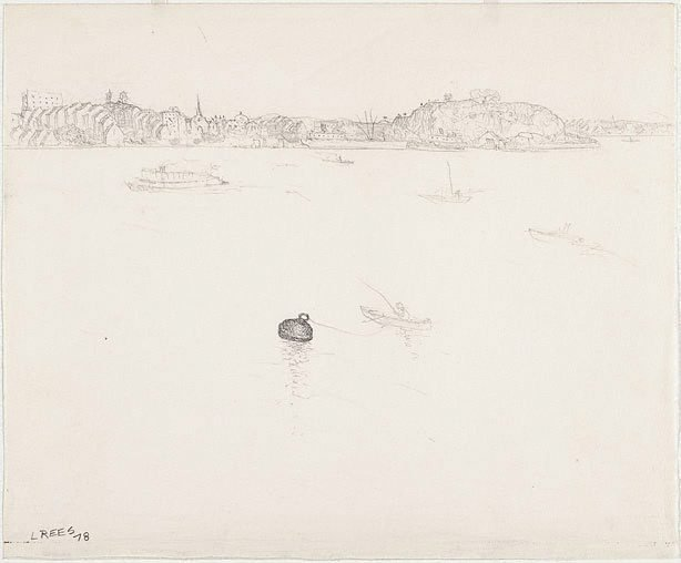 An image of recto: Drawing for 'The Balmain buoy' verso: [wax impressions]
