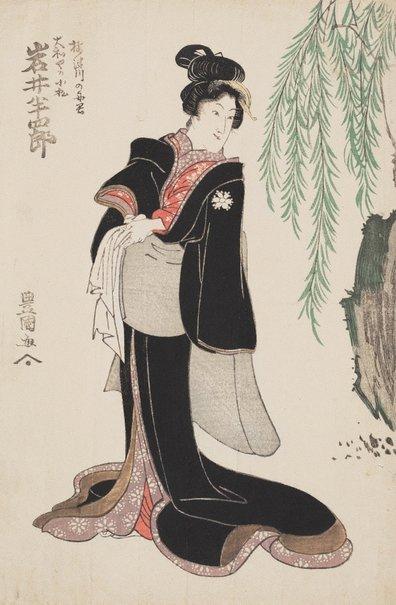 An image of Actor Iwai Hanshirō as Komatsu of Yamatoya by Utagawa Toyokuni
