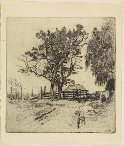 An image of Entrance to the farm, Campbelltown by Sydney Ure Smith