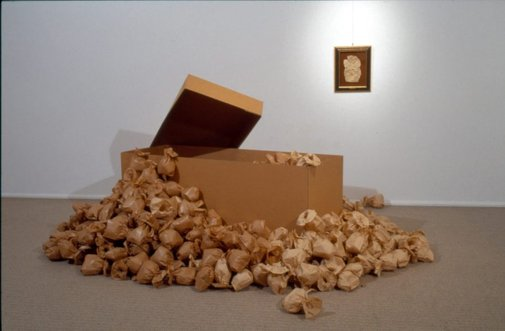 An image of brown paper by Katthy Cavaliere
