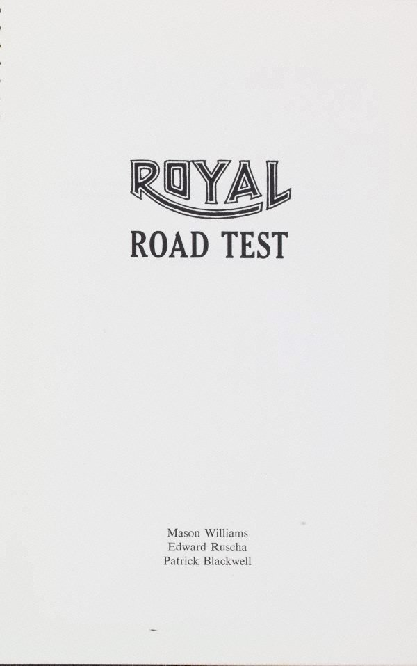 An image of Royal road test
