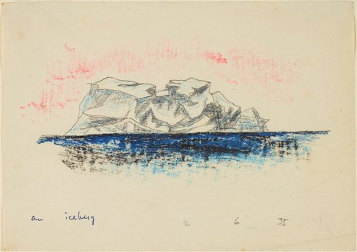 An image of An iceberg by Lyonel Feininger