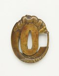 Alternate image of Tsuba (with pierced design of boy with scroll) by