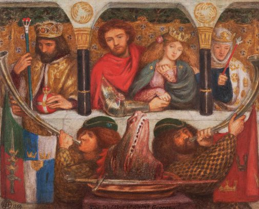 An image of The wedding of St George by Dante Gabriel Rossetti