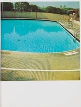 An image of Nine swimming pools and a broken glass by Edward Ruscha