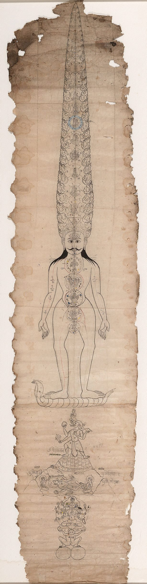 An image of The subtle body and cosmic man