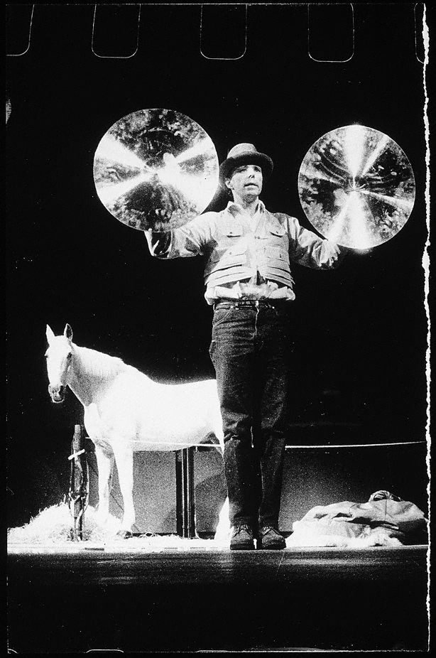 An image of Joseph Beuys in the Action 'Iphigenie / Titus Andronicus'