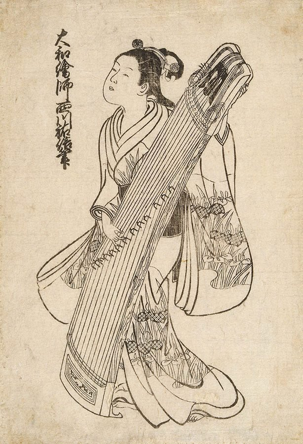 An image of (Girl with koto)
