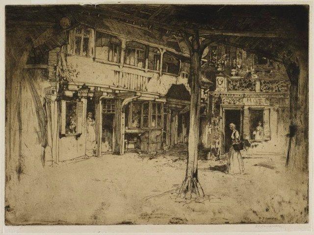 An image of Cour des bons enfants, Rouen
