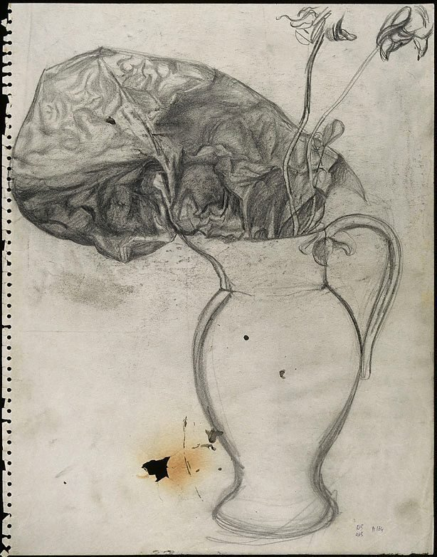 An image of recto: Flowers and abstract form in a vase verso: (Flowers and abstract form in a vase)