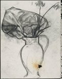 Alternate image of recto: Flowers and abstract form in a vase verso: (Flowers and abstract form in a vase) by David Strachan
