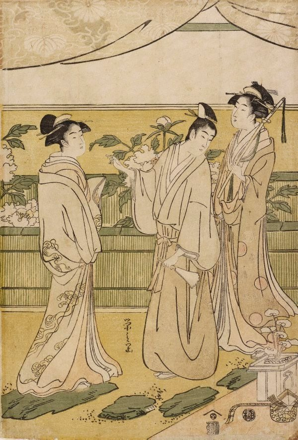 An image of The chapter 'Hana-no-en' from the 'Tale of Genji'