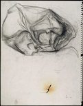 Alternate image of recto: Vase with abstract form verso: Abstract form by David Strachan