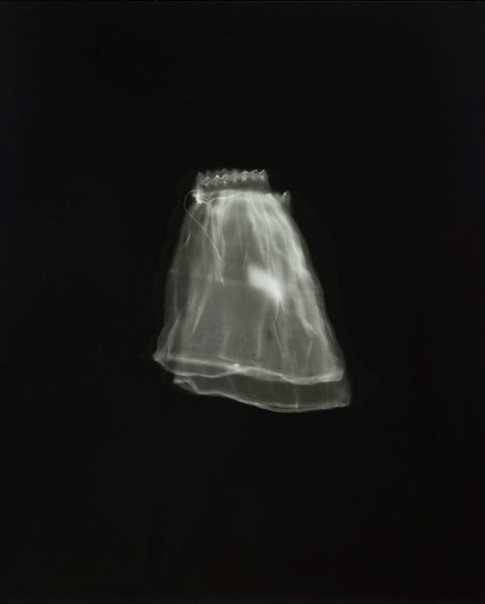 An image of untitled (child's sleeves) by Anne Ferran