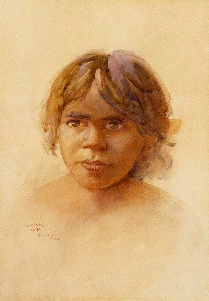 An image of Aboriginal girl by BE Minns