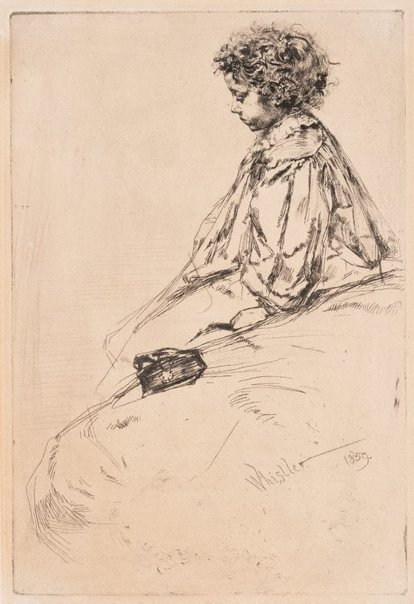 An image of Bibi Lalouette by James Abbott McNeill Whistler