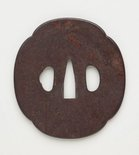 Alternate image of tsuba (with design of old man) by