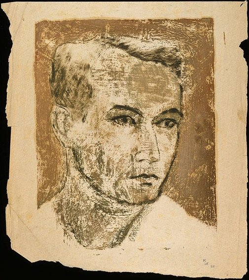 An image of Head of a man by David Strachan