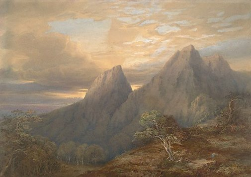An image of Hume Crags, Liverpool Ranges, New South Wales by Conrad Martens