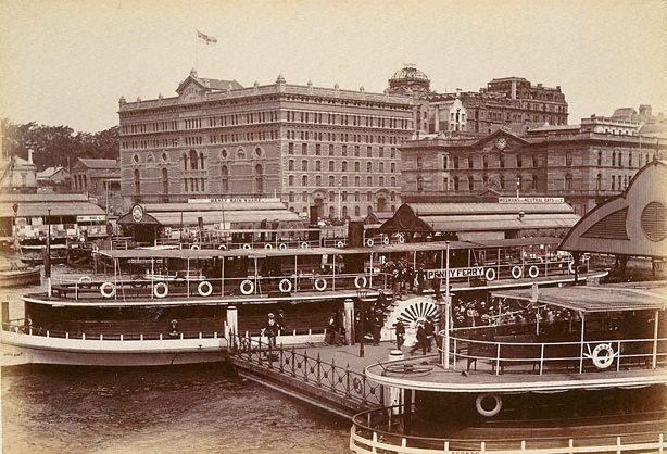 An image of North Shore ferry. Circular Quay