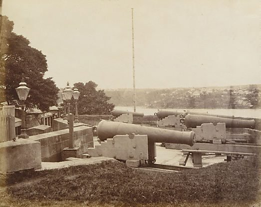 An image of Dawes Point battery