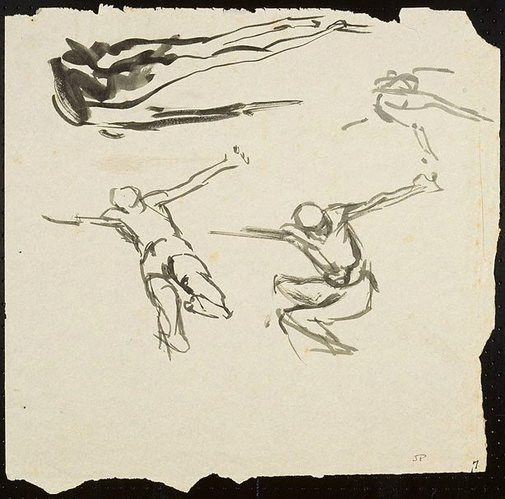 An image of Four figures by John Passmore