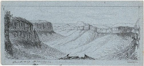 An image of Govett's Leap, Mount Victoria by E.L. Montefiore