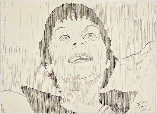 An image of Untitled (Pat with gap in teeth) by Richard Larter