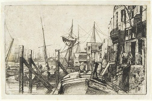 An image of Limehouse by James Abbott McNeill Whistler