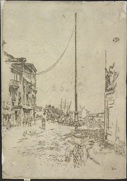 An image of The little mast, Venice by James Abbott McNeill Whistler
