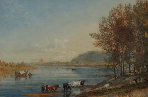 An image of Distant view of Rome by Arthur Glennie