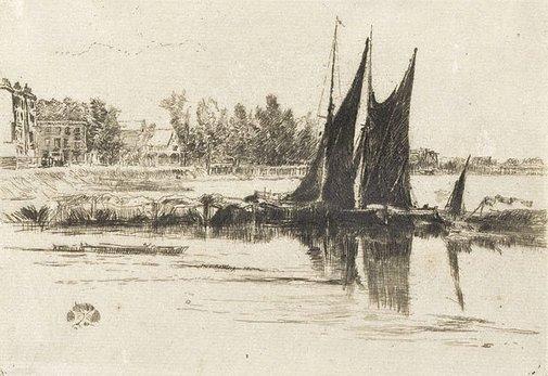 An image of Hurlingham by James Abbott McNeill Whistler