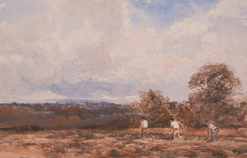 An image of Haymaking by William Bennett