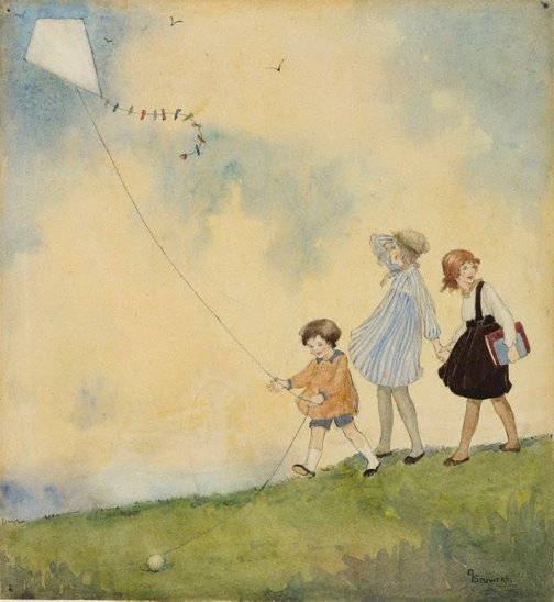 An image of The kite by Ethel Spowers