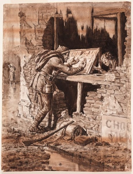 An image of The chocolate joint by Napier Waller