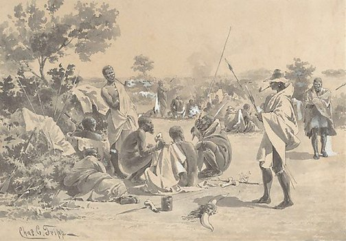An image of Sketches from the Zulu War (1) by Charles Edwin Fripp