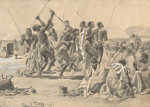 An image of Sketches from the Zulu War (2) by Charles Edwin Fripp