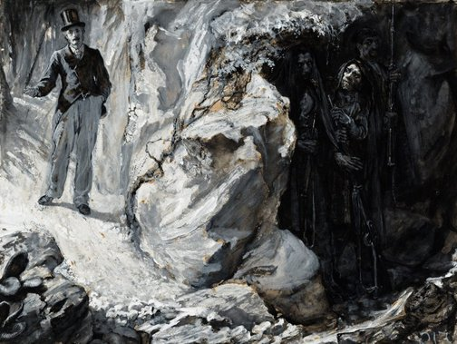 An image of Brigands lying in wait by E.J. Gregory