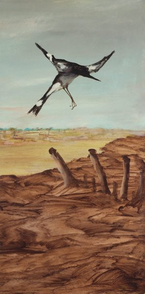 An image of Magpie by Sidney Nolan
