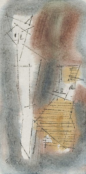 """An image of (Two """"Ghosties"""") by Lyonel Feininger"""