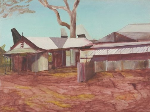 An image of Broome - Continental Hotel by Sidney Nolan