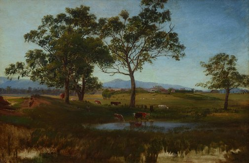 An image of A Victorian homestead by Nicholas Chevalier