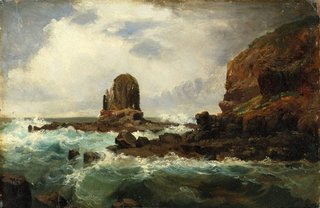 Pulpit Rock, Cape Schanck, Victoria, (1860s) by Nicholas Chevalier